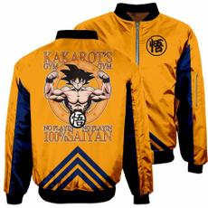 Funny, wukongprinted, 3dzipperpilotjacketcoat, Coat