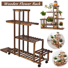 plantpotholder, Wood, flowerrack, Flowers