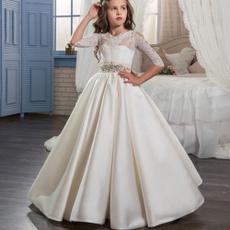 Fashion, Lace, Long Sleeve, girlbirthdaydresse