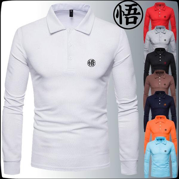 8 Colors Mens Fashion T Shirt Long Sleeved T Shirt Pure Color Men Shirts Goku Shirt Autumn And Winter Tops Wish