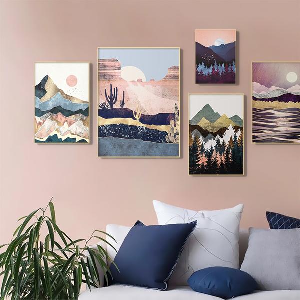 art print, Mountain, art, posters & prints