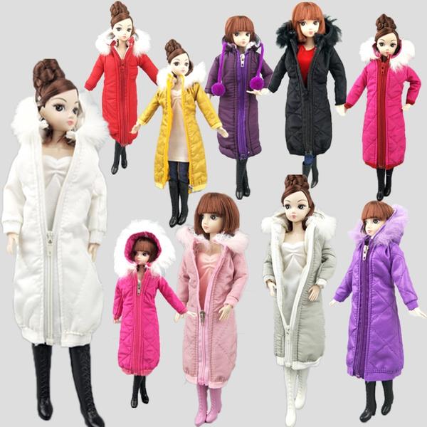 Fashion, doll, Dress, Down Jacket