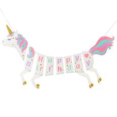 letterbanner, Garland, happybirthdaybanner, unicorn