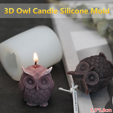 handcrafttool, Owl, Home Decor, candlesiliconemould