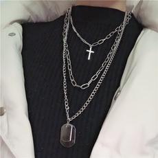 trendy necklace, hip hop jewelry, Cross necklace, punkneckalce