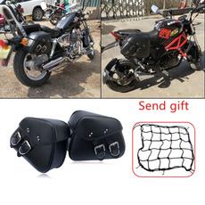 sportster, motorbike, Luggage, leather