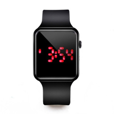 LED Watch, Watches, siliconebandwatch, led