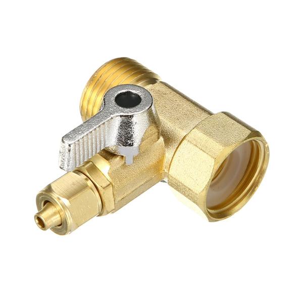 Brass, water, threeunionrofeedwateradapter, roballvalve
