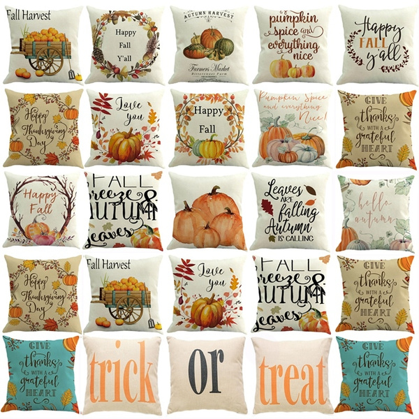 Home Decor, Halloween, Pillowcases, pumpkinpillowcover