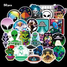 ufo, aliensticker, Waterproof, graffitisticker