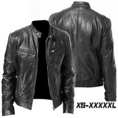 Stand Collar, bikerjacket, Fashion, Winter