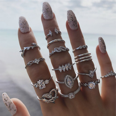 Heart, crystal ring, Women Ring, Crystal