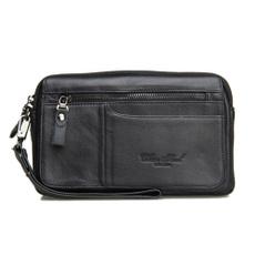 case, men's leather wallet, clutch purse, genuine leather bag.