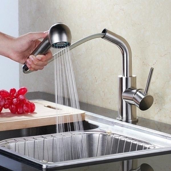 Steel, mixertap, Bathroom Accessories, swivelfaucet