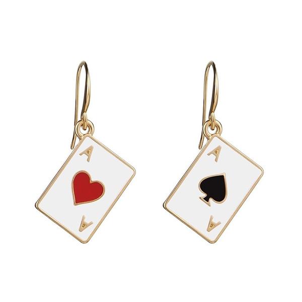 Poker, Hoop Earring, Dangle Earring, Jewelry
