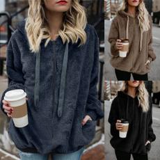 blouse, Women, Plus Size, Cotton