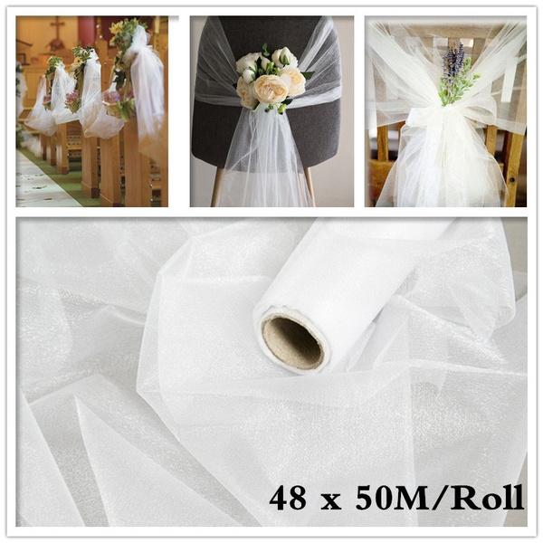 tulle, Home Decor, organzafabric, white