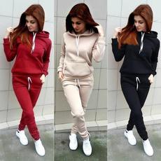 Long pants, Plus Size, tracksuitset, Sleeve