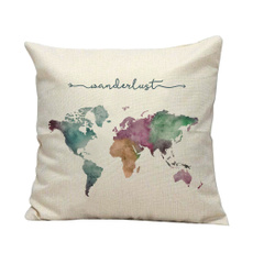 case, Decor, Gifts, theworldmappillowcover