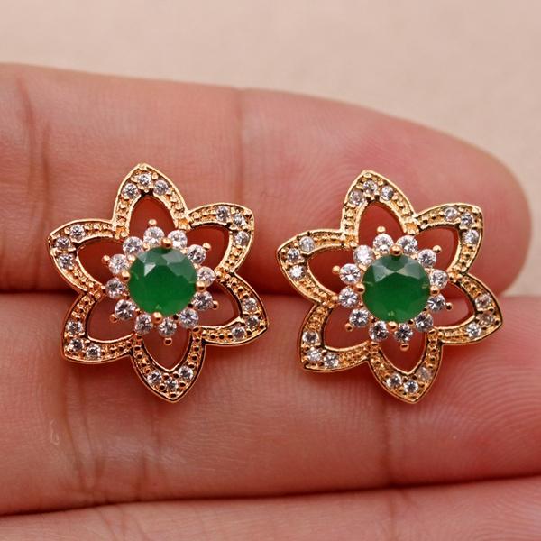 jadeearring, Jewelry, gold, Stud Earring