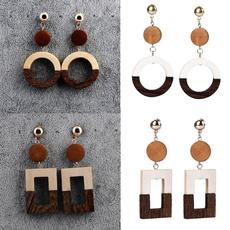 Wood, Hoop Earring, woodenearring, Gifts