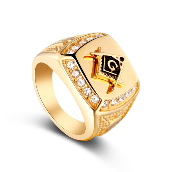 Steel, crystal ring, Stainless Steel, wedding ring