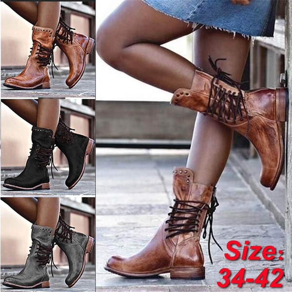 Shoes, Plus Size, Leather Boots, Winter