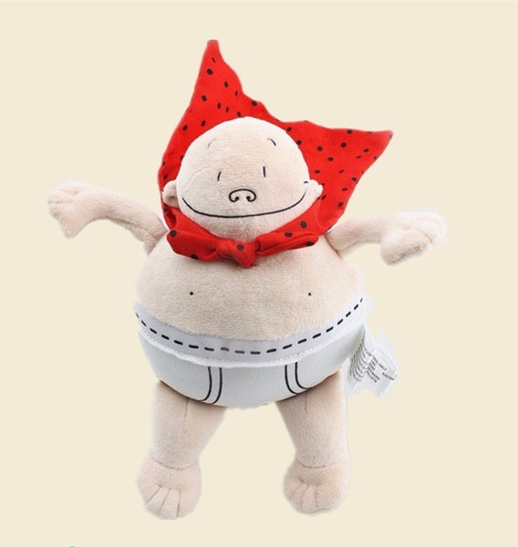 Black Cat Stuffed Animal, Captain Underpants Doll By Merry Makers 20cm Plush Toy Stuffed Doll Book Comfort Toy Child Gift Anime Around Epic Tales Of Captain Underpants Wish