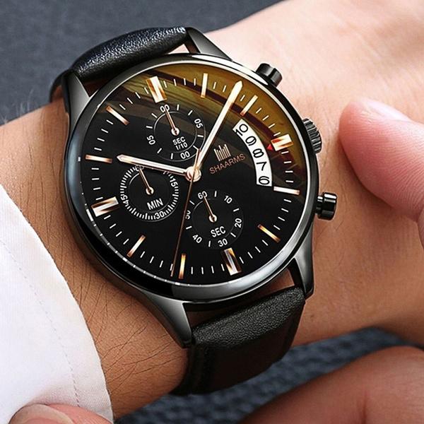 watchformen, genevawatch, quartz, leather strap