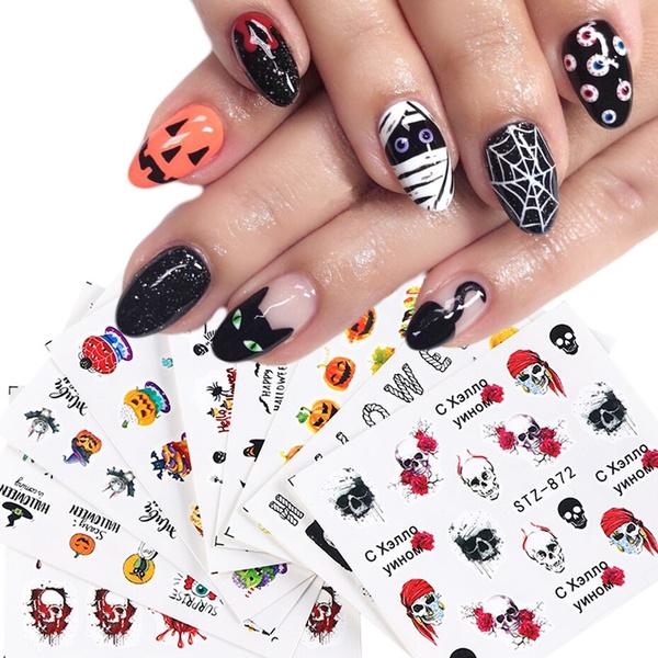 nail decals, Beauté, Stickers, Halloween