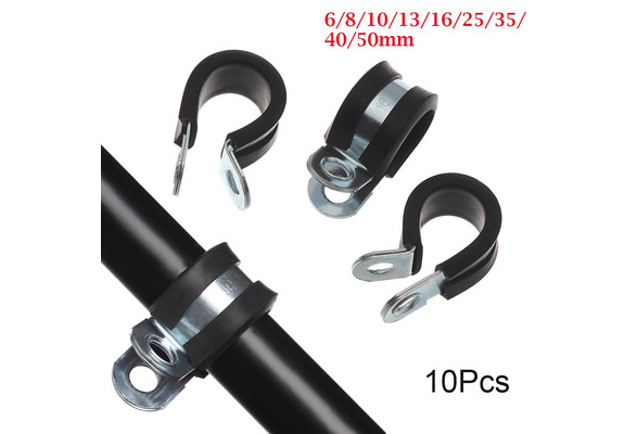 20pcs Hose Clamps Iron-Plated Water-Stop Clamp Rubber Tube Spiral Clamp Pipe Hose Fixing Clip