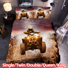 extremesportbedding, King, quadbikeduvetcover, Oil Painting