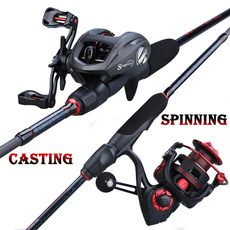 spinningreel, Fiber, Bass, fishingrod