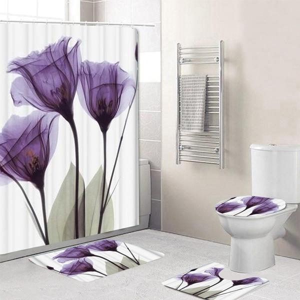 Tulips, doormat, Polyester, Bathroom Accessories