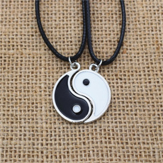 enamelnecklace, friendshipnecklace, Jewelry, taichi