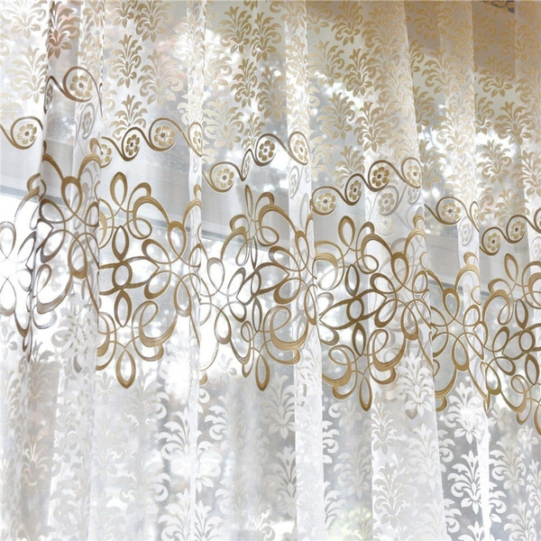 Decor, yarncurtain, Romantic, sheertullevoilecurtain