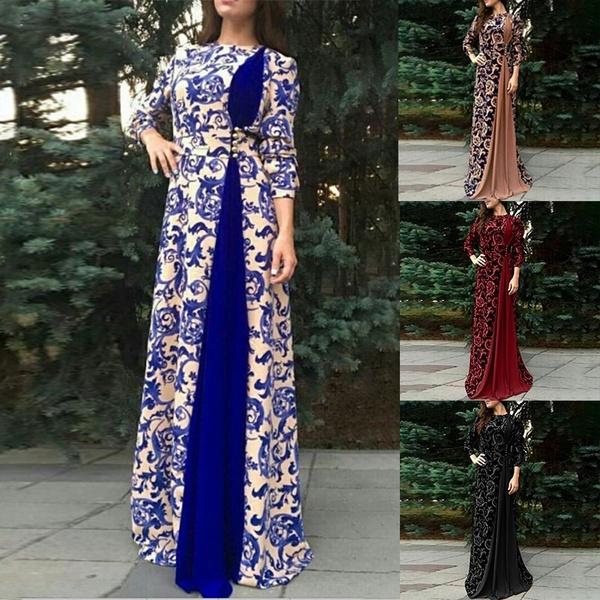 Floral, Sleeve, Long Sleeve, Dress