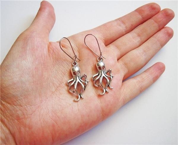 gothicearring, Dangle Earring, Animal, Sterling Silver Earrings