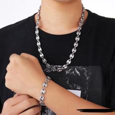 Steel, Coffee, Fashion, 1necklace1bracelet