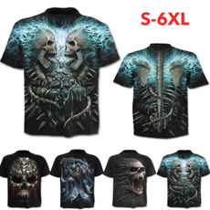 Summer, Plus Size, Shirt, skull