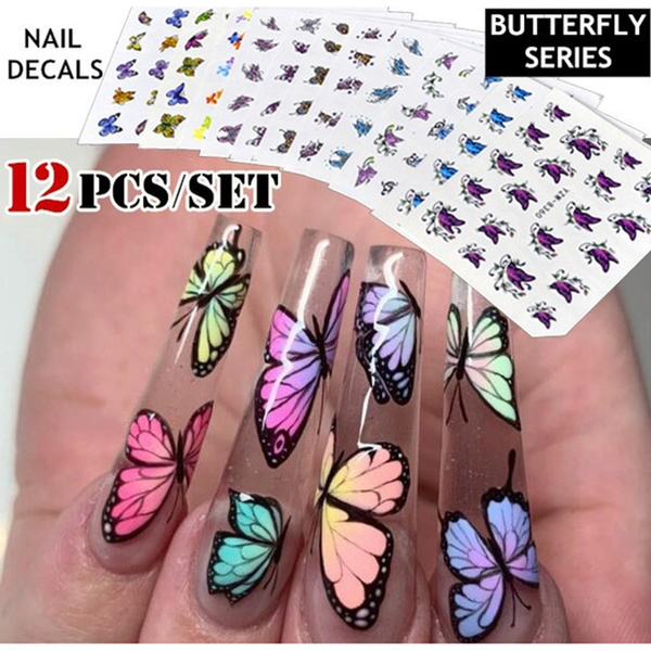 manicure tool, nail decoration, butterfly, manicure