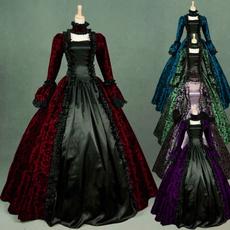 GOTHIC DRESS, Plus Size, Medieval, Dress