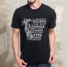 dogprintedtshirt, Believe, Cotton Shirt, pitbulltshirt