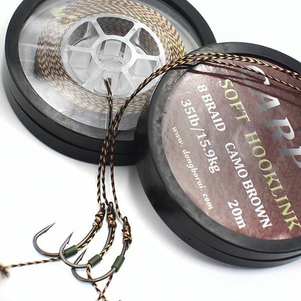 20m Carp Fishing Line Soft Hook Link Carp Hooklink Rig Line Hair Braid Y0S2