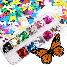 nail decoration, butterfly, nailbutterflyflake, art