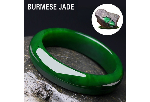 PICNIC in the GARDEN Myanmar Beautiful Jadeite bangle
