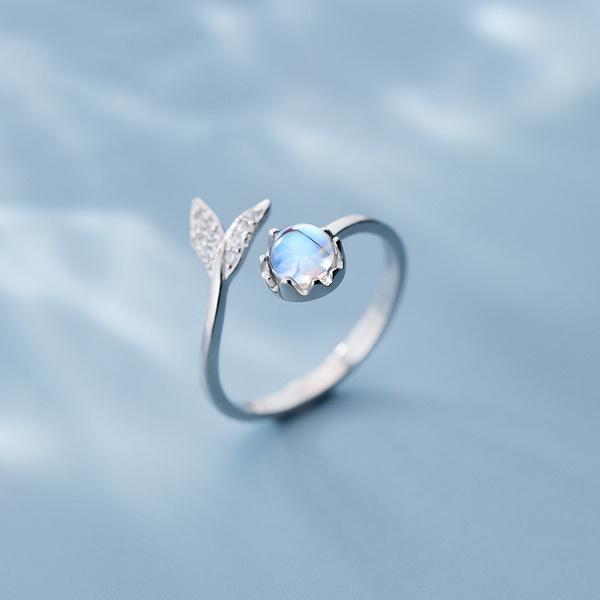 Blues, adjustablering, 925 sterling silver, Jewelry