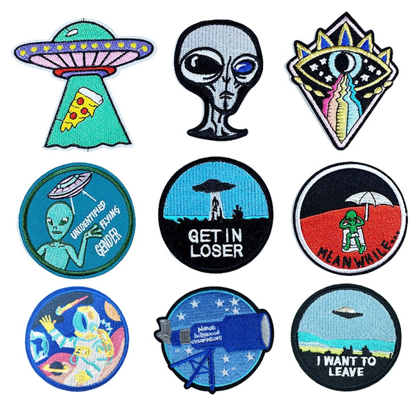 I Want TO Leave This Planet Alien UFO Embroidered Iron On Sew On PatchВBadge