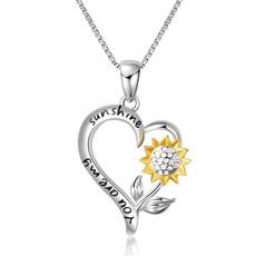Sterling, 925silverpendant, Silver Jewelry, sunshine