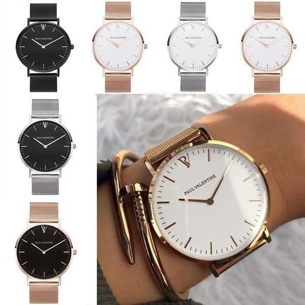 Steel, Fashion, Casual Watches, Gifts